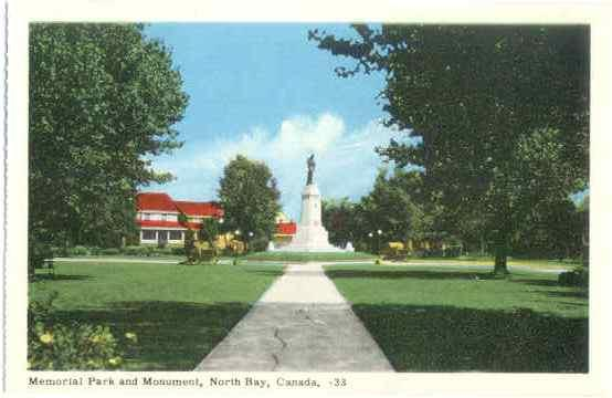 Memorial Park and Monument, North Bay, Ontario, Canada,: PECO White border