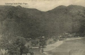 PC CPA SAMOA, PACIFIC, GREETINGS FROM PAGO PAGO, Vintage Postcard (b19477)