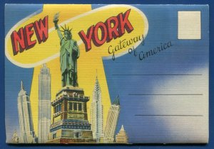 New York City ny Gateway of America Hayden Planetarium Postcard Folder