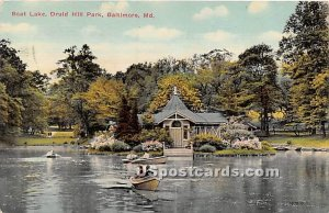 Boat Lake, Druid Hill Park in Baltimore, Maryland