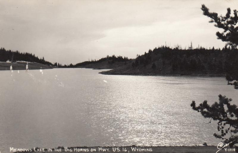 RP,  Meadow Lake In The Big Horns, Hwy U.S. 16, WYOMING, 1950s; Sanborn Y-1714