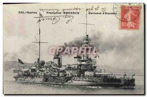 Postcard Old War Ship Brennus Breastplate d & # 39escadre