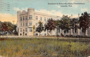 Lincoln Nebraska~State Penitentiary~Entrance & Grounds~1913 Postcard