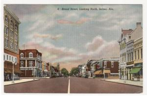 Broad Street Selma Alabama 1952 postcard