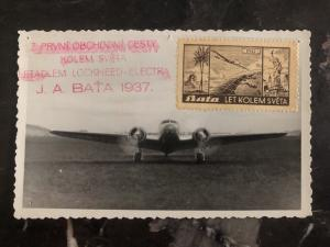 Mint Czechoslovakia  RPPC Postcard BATA Airlines years around the world