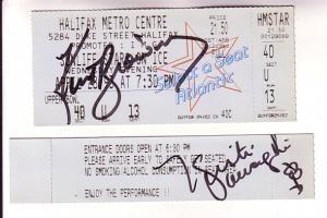 Kurt Browning, Plus Autograph 1993 Ticket Sunlife Stars on Ice, Figure Skating,
