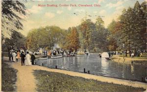 Cleveland Ohio~Gordon Park-Motor Boating~People on Path~1910 Postcard