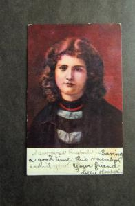 Attractive Pretty Girl / Young Woman Antique Postcard