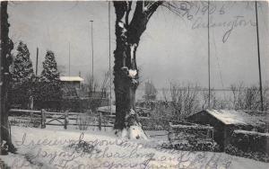E27/ Arlington Ohio Postcard 1906 Homes Sailboat Hancock County