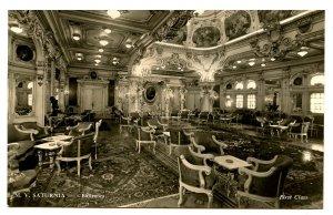 Cosulich Line of Trieste - MV Saturnia, Ballroom  *RPPC