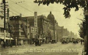 japan, NAGOYA, Chūbu, Hirokoji, Street Scene, Cars (1930s) Esperanto Postcard