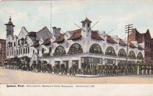 Washington Spokane Davenport's Restaurant 1909 sk382