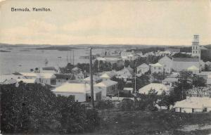 Hamilton Bermuda Birds Eye View Antique Postcard J59135