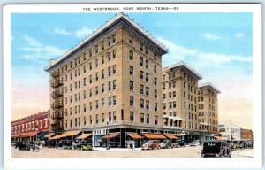 FORT WORTH, Texas  TX    THE WESTBROOK  ca 1930s Linen   Postcard
