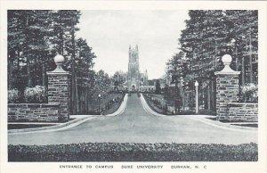 North Carolina Durham Duke University Entrance To Campus Albertype