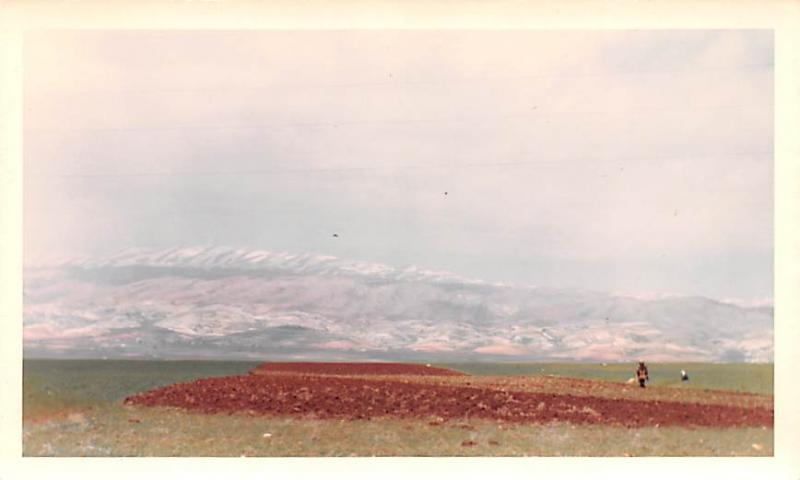 Ablah, Lebanon Postcard, Carte Postale Looking North West Toward Mountains Ab...
