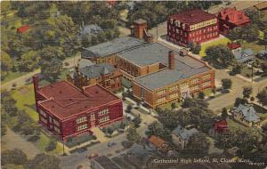 Cathedral High School St Cloud Minnesota 1940 postcard