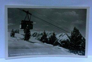 RPPC Tyrol Austria Patscherkofel Ski Lift Stubai Glacier Postcard