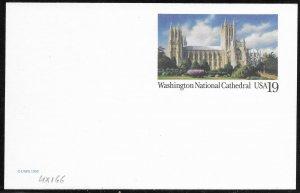 US Unused. Washington National Cathedral.  UX166
