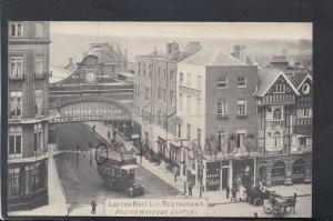 Berkshire Postcard - Layton Bro's Ltd Restaurant, Facing Windsor Castle  HP352