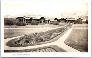 Glacier National Park RPPC Real Photo Postcard GLACIER PARK HOTEL c1940s Unused