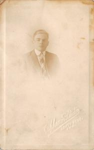 South Bend Indiana~Orpheum Studio~Serious Young Man's Portrait~c1912 RPPC