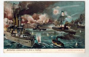 2178   Battleships endeavoring to force a landing
