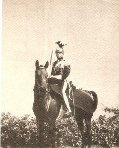 Belgique. Officier du 1er Lanciers. Horse Old vintage Belgianpostcard