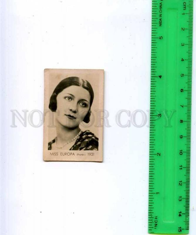 188463 Miss EUROPA France 1931 year Old photo CIGARETTE card