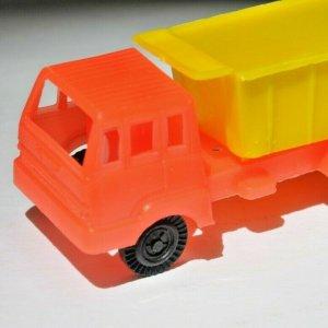 Orange Yellow Plastic Kids Toy Truck MCM Two Tone