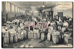 Old Postcard Folklore Wine Harvest Champagne Moet & Chandon room d & # 39expe...