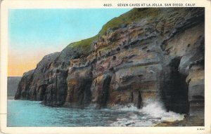 Seven Caves At La Jolla San Diego California Western Publishing 4625 Postcard