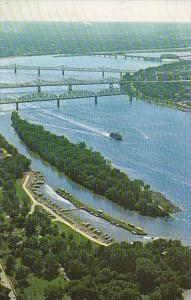 Air View Of The Ohio River At Louisville Kentucky