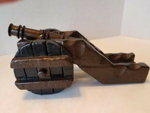 Vintage Wood and Metal Decorative Cannon for Display Non Working