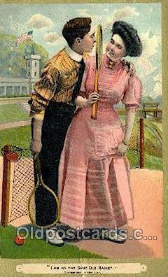Tennis Old Vintage Antique Postcard Post Cards