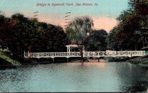 Iowa Des Moines Bridge In Ingersoll Park 1911
