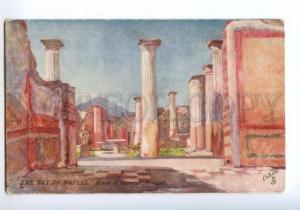 138474 Italy Naples NAPOLI Bay House of Olconius Pompeii OLD