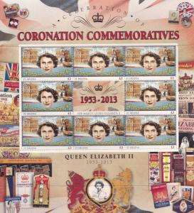 Queen Elizabeth II Bermuda Royal Coronation Rare Mint Stamp Block Sheet