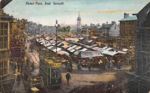 Great Yarmouth Market Place Commerce Tramway Tram Market Row Series 1907