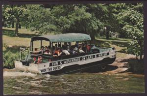 Duck Leaving Lake Delton,WI Postcard BIN