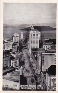 Market Street Looking Across Bay San Francisco California Real Photo