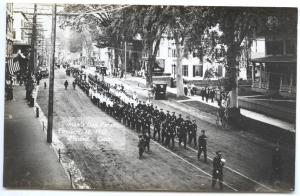 Winsted CT Fireman's Day Parade 9/18/1912 RPPC Real Photo Postcard