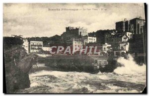 Old Postcard Biarritz picturesque Old Port