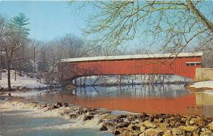 Lancaster County Pennsylvania~Umble's Mill Covered Bridge~Penna Dutch~1950s Pc