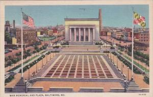 Maryland Baltimore War Memorial and Plaza 1937 Curteich