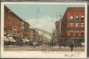 High Street Columbus Ohio 1905 postcard