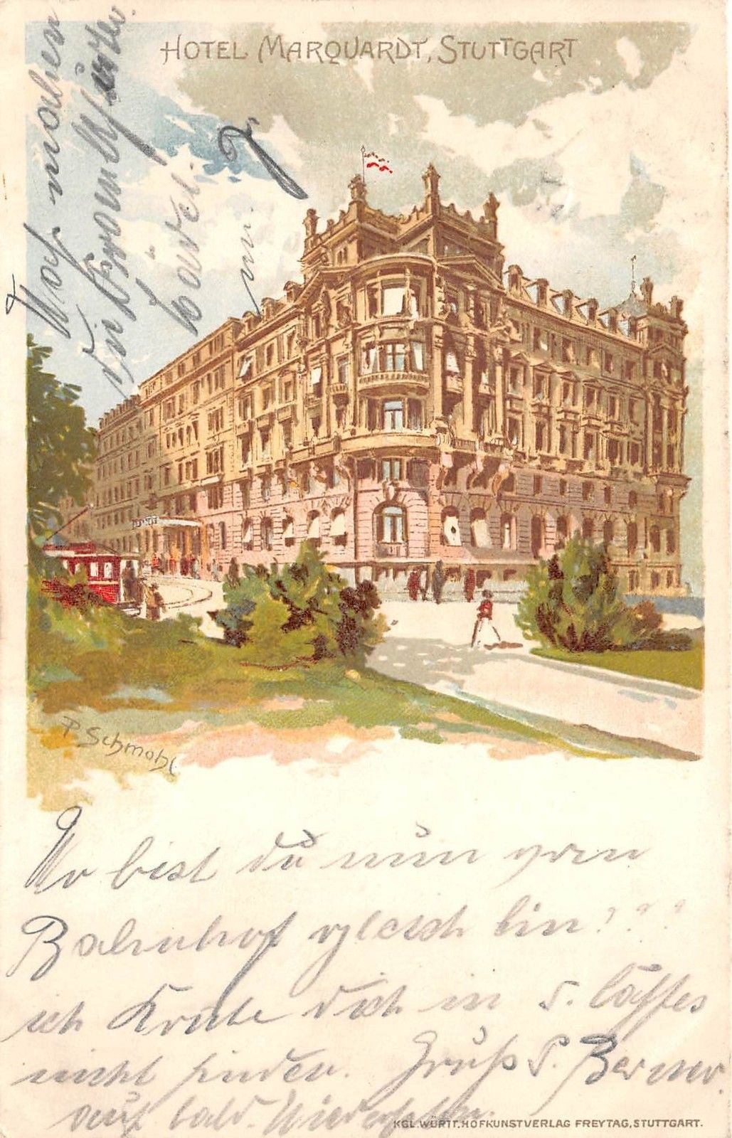 Bg18927 Stuttgart Hotel Marquardt Germany Hippostcard