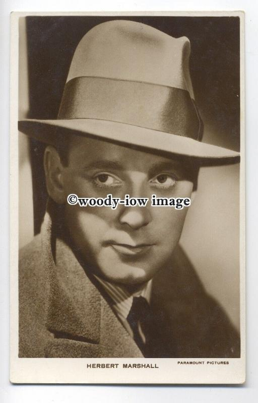 b3586 - Film Actor - Herbert Marshall, Paramount Pictures  -  postcard