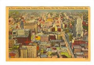 View looking East from Terminal Tower showing Ohio Bell Telephone Building, C...
