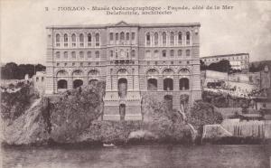 MONACO, 1900-1910's; Musee Oceanographique, Facade Cote De La Mer
